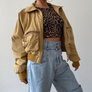 Urbanoutfitters cotton twill bomber jacket